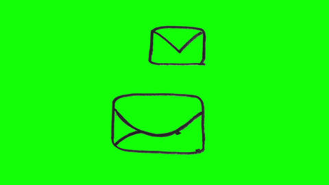 Animation of white envelopes appearing Animation