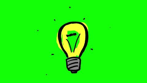 Animation of fast gestating yellow light bulb Animation
