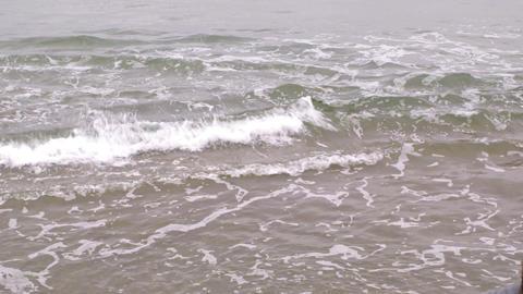 Choppy grey sea Footage