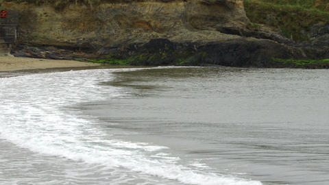 Peaceful seaside scene Live Action