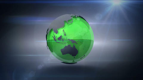 Revolving green and grey earth Animation