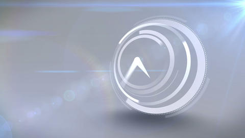 White clock ticking at speed Animation