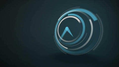 Blue clock ticking at speed Animation