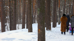 Winter walking Footage
