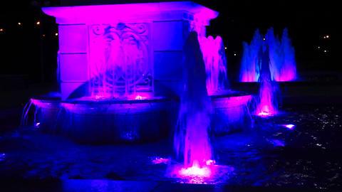 Light colour fountain Stock Video Footage