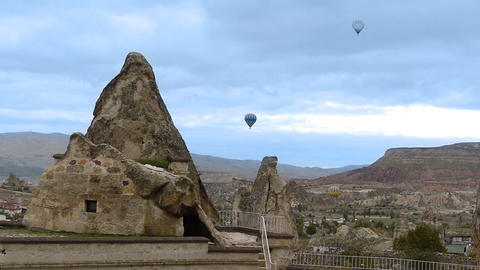 Cappadocia turkey nature baloon fly fairy chimney miracle holiday 3 timelapse Footage
