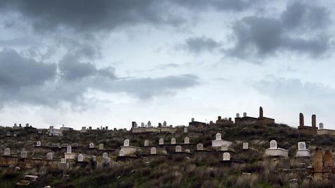 cemetery heaven graveyard timelapse Stock Video Footage