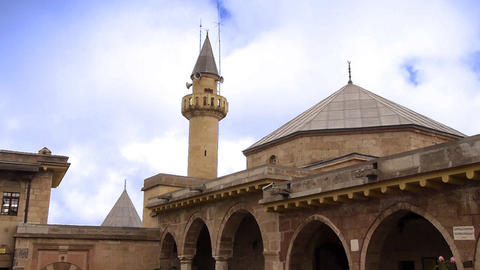 house of haci bektas veli anatolian town mosque house... Stock Video Footage