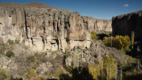 ihlara valley cappadocia turkey nature fairy chimney... Stock Video Footage