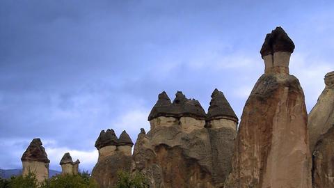 Cappadocia turkey nature fairy chimney miracle holiday... Stock Video Footage