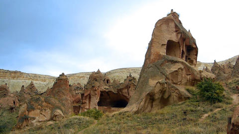Cappadocia turkey nature fairy chimney miracle holiday... Stock Video Footage