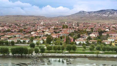 Ordinary turkish anatolian town Turkey 3 Stock Video Footage