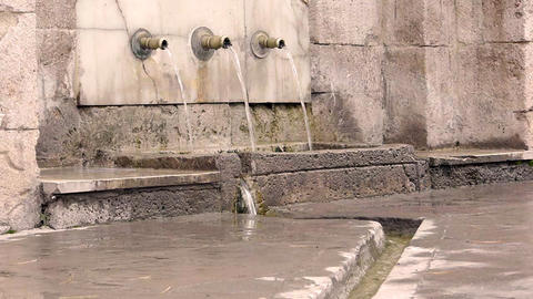 Ottoman style anatolian historical fountain nobody 2 Footage