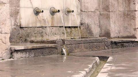 Ottoman style anatolian historical fountain nobody 2 Stock Video Footage