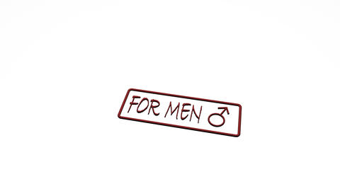 Seal stamp man woman men women Animation