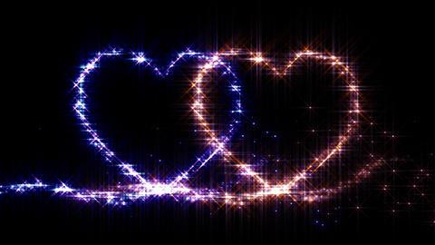 Heart Sparkle E3 Stock Video Footage