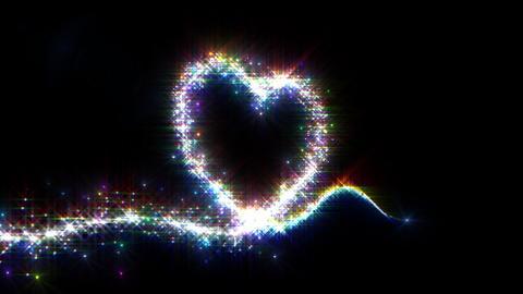 Heart Sparkle 3 E2 Stock Video Footage
