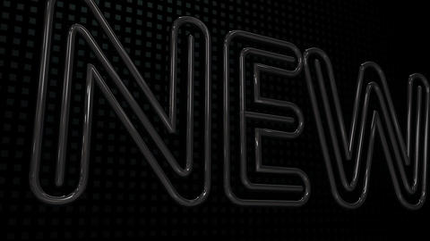 Happy New Year 2011 Neon Sign HD Stock Video Footage