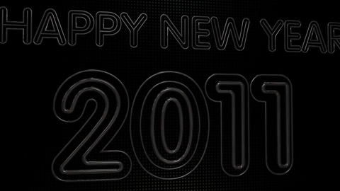 Happy New Year 2011 Neon Sign HD Animation