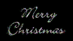 Merry Christmas Glittering Letters Stock Video Footage