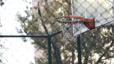 Basket play basketball streetball sport game action Stock Video Footage