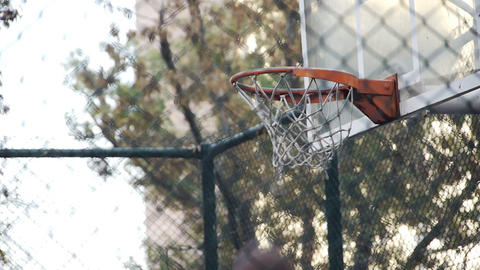 Basket play basketball streetball sport game action Footage