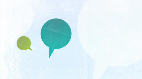Random Speech Bubbles on Textured Background HD Stock Video Footage