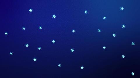 Looping Stars on Midnight Blue HD Stock Video Footage