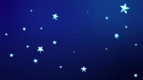 Looping Stars on Midnight Blue HD Animation
