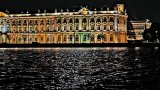 Night Hermitage Museum stock footage