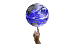 Spinning The Earth Like A Ball On The Finger Stock Video Footage