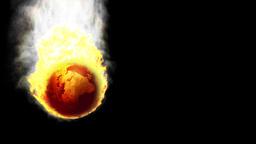 Earth In Fire Falling, Alpha Stock Video Footage
