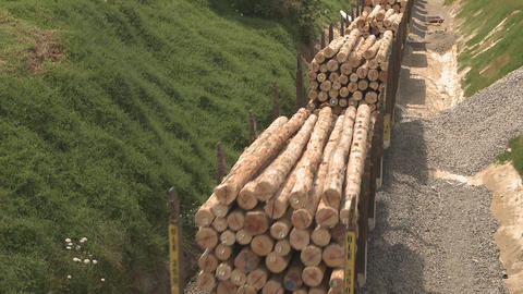 log train Stock Video Footage