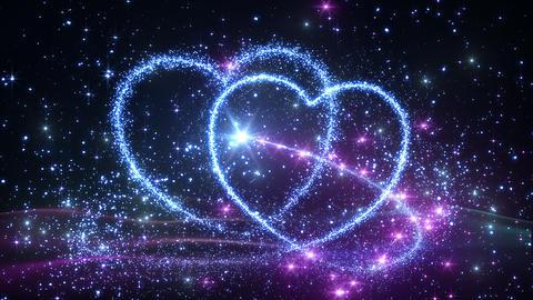 Heart Glitter 2 C1 Stock Video Footage