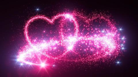Heart Glitter 2 D1 Stock Video Footage