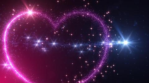 Heart Glitter 2 E1 Stock Video Footage