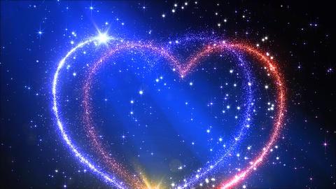 Heart Glitter 2 E3 Stock Video Footage