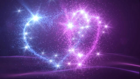 Heart Glitter 2 H2 Stock Video Footage