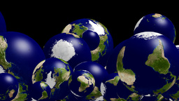 Falling Globes, Alpha Stock Video Footage