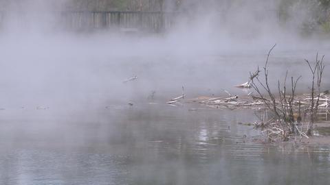 geothermal lake water Stock Video Footage