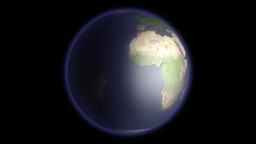 Earth Globe Rotating Animation