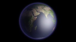 Earth Globe Rotating Stock Video Footage