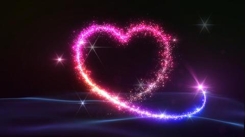 Heart Glitter 2 A2 Stock Video Footage