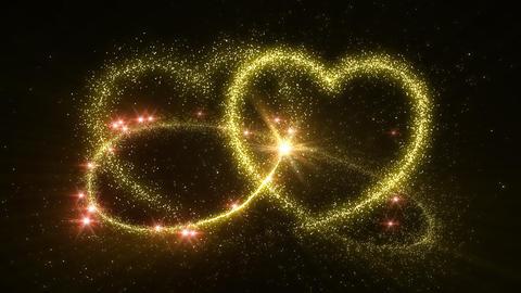 Heart Glitter 2 D3 Stock Video Footage