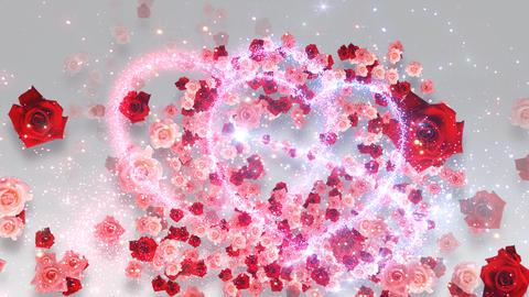 Heart Glitter 2 Rose CF4 Stock Video Footage