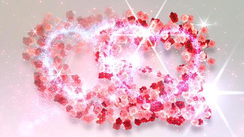 Heart Glitter 2 Rose DF4 Stock Video Footage