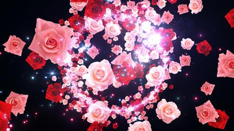 H C Glitter 2 Rose FF3 動画素材, ムービー映像素材