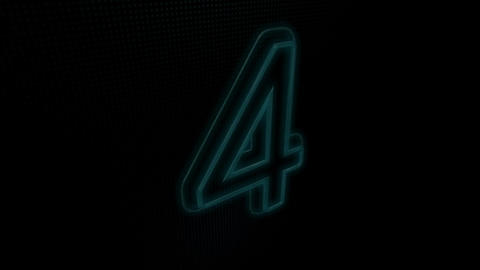 Countdown Neon On Blue Animation