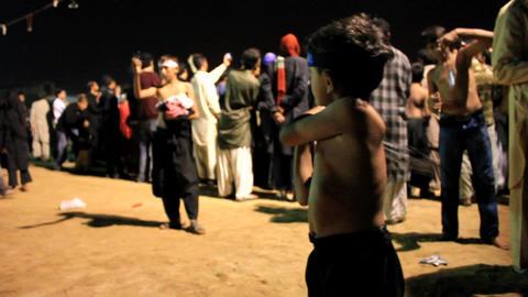 Little Boy performing self flagellation during Ashura... Stock Video Footage