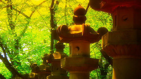 Japanese Religion ARTCOLORED 02 Stock Video Footage